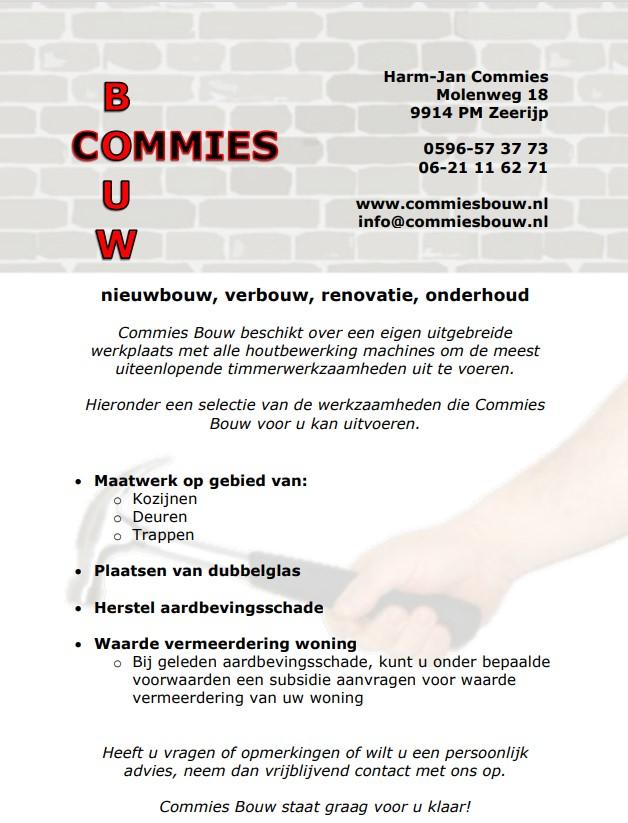 advertentie commiesbouw
