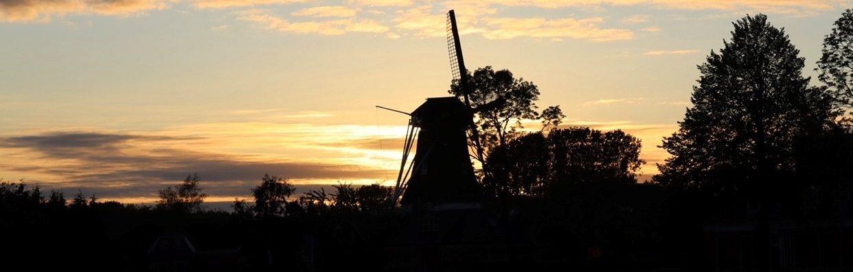 molen zonsondergang